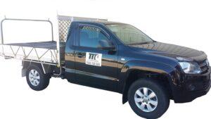 Black Taxi Truck from Team Transport & Logistics