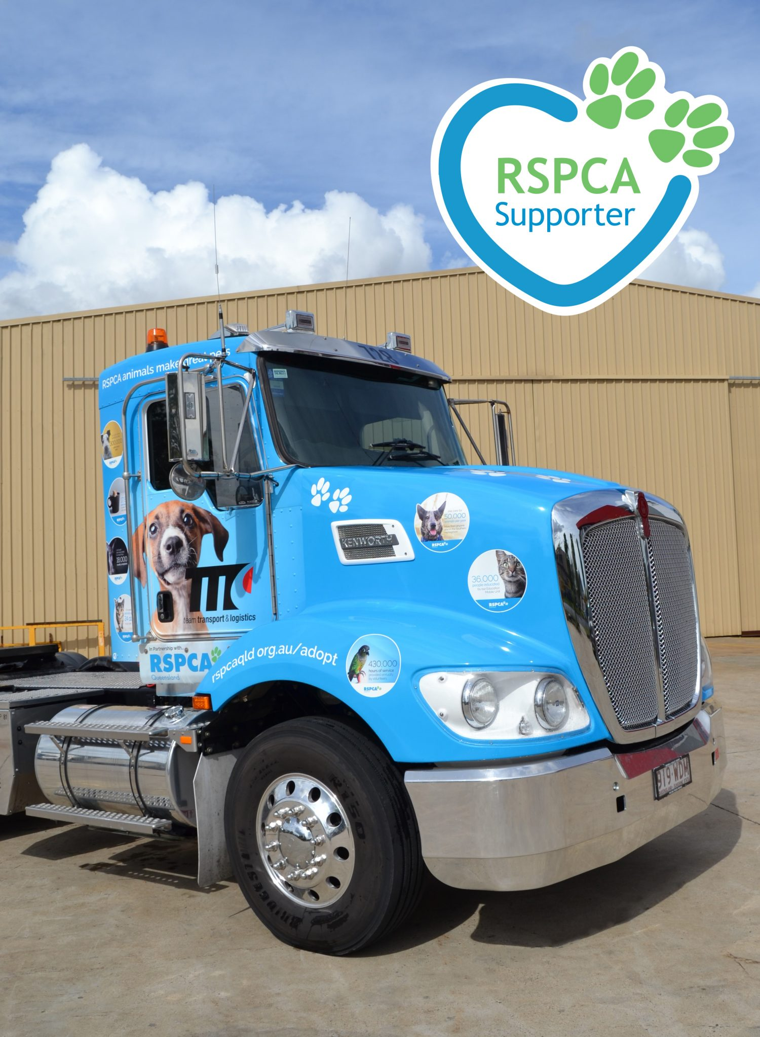 Team Transport & Logistics Supports RSPCA Qld in Partnership